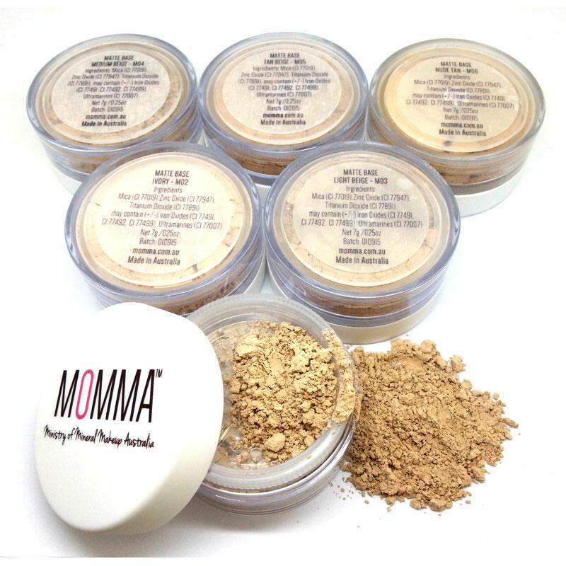 Matte Mineral Base Mineral Foundation SPF20   MOMMA Mineral Makeup