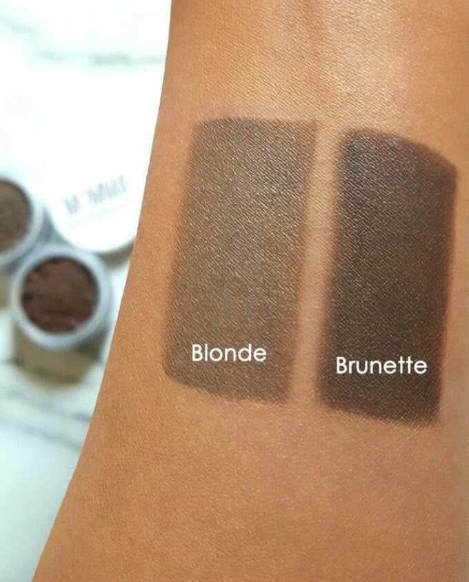 brow powder swatch